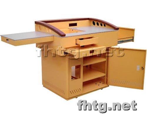 多媒体讲台网提供生产豪华型钢木讲台厂家